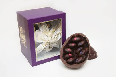 Charbonnel et Walker, 'Fine Dark Chocolate Easter Egg with Rose and Violet Creams'