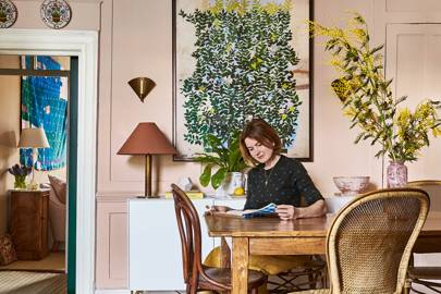 Gabby in her Bloomsbury flat