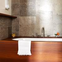 Limestone Tiled Bathroom