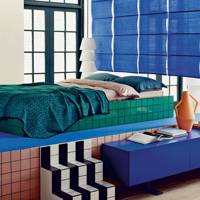 Coloured Bedroom Tiles