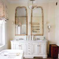 White Wooden Bathroom Vanity