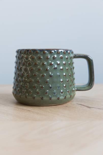 3. Textured Mug - green