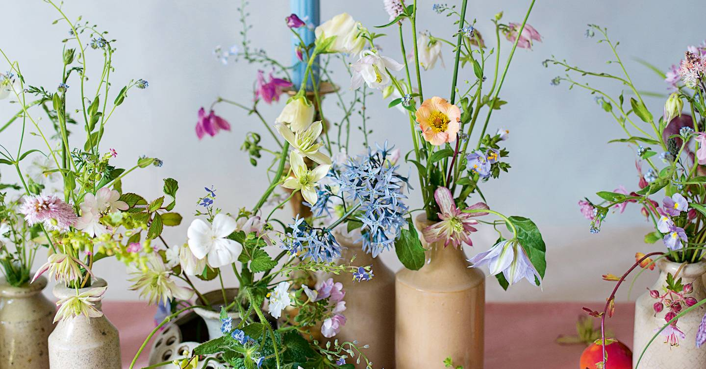 The duo behind London florist Aesme and their fragile, romantic designs