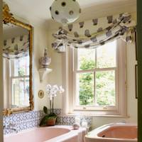 Pastel pink bathroom suite