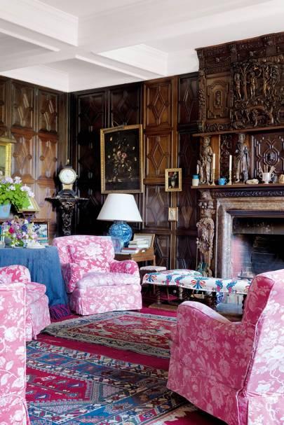 Panelled Sitting Room - Holker Hall