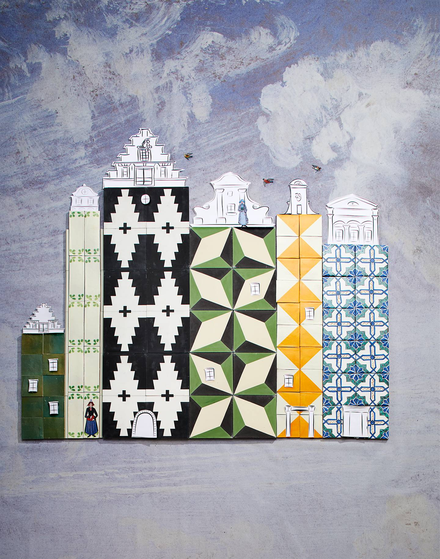 Our decoration stylist turns the prettiest tiles into exquisite Dutch houses
