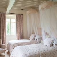 Pink Farmhouse Bedroom