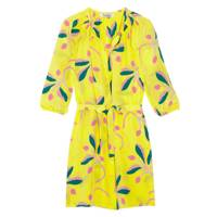 Printed Silk Shirt Dress