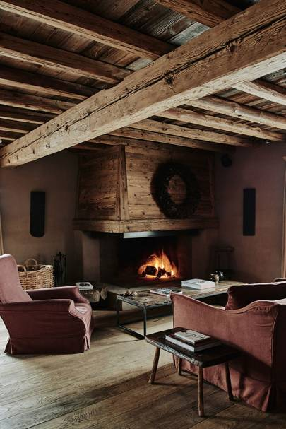 Red Sofa Sitting Area - Belgian Family Home & Alps Chalet