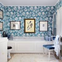 Blue & White Chinoiserie Bathroom