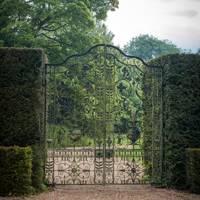 Wrought-iron Gates to the House