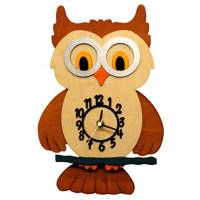 Brown Owl Children's Wall Clock