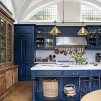 Deep blue kitchen