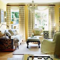 Small Cream Cottage living room