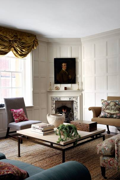 Small Panelled Sitting Room With Antiques