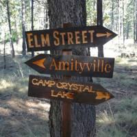 Horror movie signpost