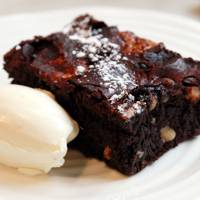 Gluten-free hazelnut and marshmallow brownies