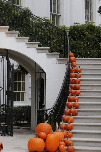 Pumpkin Staircase - DIY Halloween