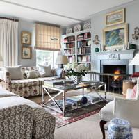 Grey Living Room with Mixed Fabrics