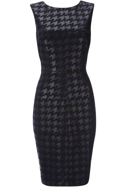 Black Houndstooth Dress