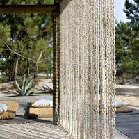 Jacques Grange's Shell Curtain - Holiday Cottages
