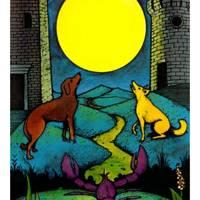 The Moon from The Morgan Greer Tarot