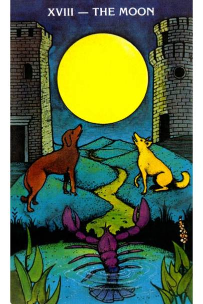 The Moon from The Morgan Greer Tarot