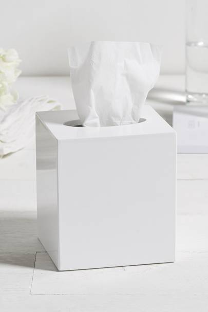 January 15: The White Company Lacquer Tissue Box Cover in White, £20