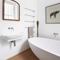 White Bathroom With Modern Fittings